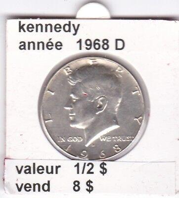 e2 )pieces de 1/2 dollar kennedy 1968 D