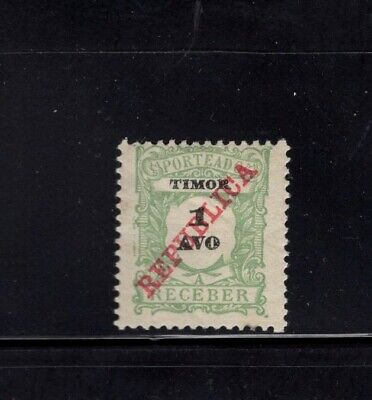 Timor 1911 1a Postage Due MH Sc J11