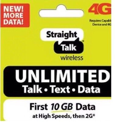 Straight Talk Service For 30 Day 10Gb Of Internet Data Plus Unlimited Talk Text