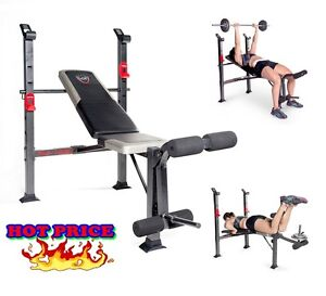 Fitness Bench Adjustable Weight Exercise Equipment Home Gym Workout Training Ebay