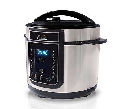 Pressure King Pro 12 in 1 Digital Electric Pressure Cooker  BONUS  Recipe Book