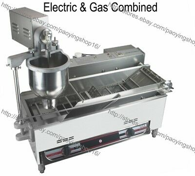 300-1200pcs Heavy Duty Electric Gas Auto Donut Maker Doughnut Machine Fryer