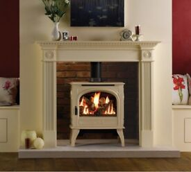 Ivory Cast Iron Gas Stove (Dovre 425) *Collection Only*