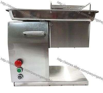 250kgh Ss 2.5-25mm Blade Electric Fresh Meat Slicer Cutter Processing Machine