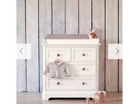 Mamas and papas orchard chest of drawers white ivory