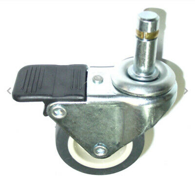 Qty. 4 Swivel Stem Caster Soft Rubber Non-marring Wheel And 716 Grip Ring Stem