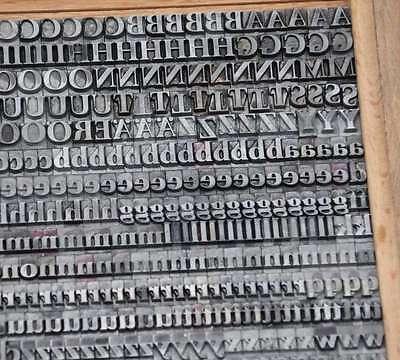 IMPRIMATUR 7,5 mm Bleischrift Bleisatz Buchdruck Handsatz Lettern Bleiletter
