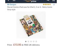 """Brand new marvel comic case for iPad 2,3 and 4. 10"""" iPads and iPad Air"""