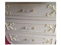 Bedside table shabby chic vintage
