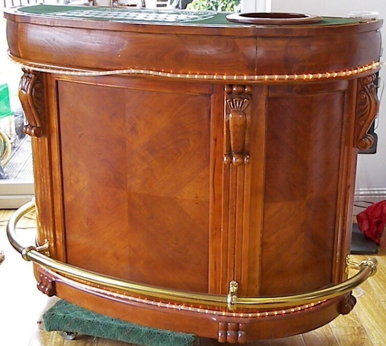 Sportcraft Home Casino Gaming Cocktail Bar Table, Roulette