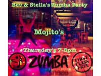 Zumba fitness party, Mojitos, Frodsham, THURSDAYS 7-8pm