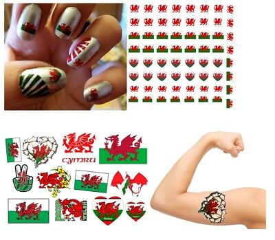 wolf  Collection Nail Art - Temporary Tattoos Tattoo Stickers ](Wolf Nails)