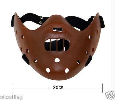 resin Silence of the Lambs Hannibal Lecter Corffee Mask movie halloween - Silence Of The Lambs Halloween Costume