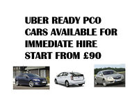 UBER READY PCO CARS AVAILABLE FOR IMMEDIATE HIRE START FROM £90