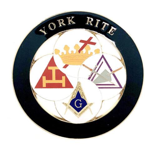 Deluxe York Rite car emblem 3 inch  #CD5