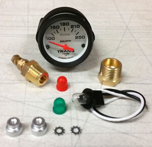 SALE Autometer Phantom Electric Transmission Temp 100-250 Deg F 52mm Gauge