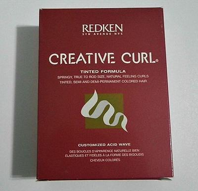 NEW Redken Creative Curl Tinted Semi Permanent Color Formula Perm Kit, ORIGINAL!