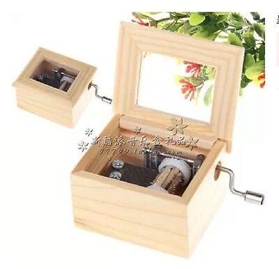 Wood Hand Crank Music Box :  Canon in D