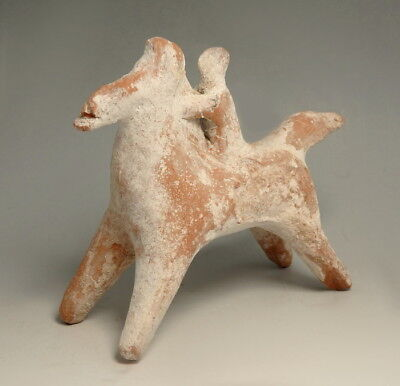 GREEK BOEOTIAN TERRACOTTA HORSE AND RIDER (N326)