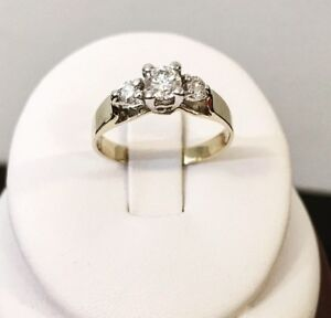 14K Yellow Gold Diamond Engagement Ring * Valued at $2,300