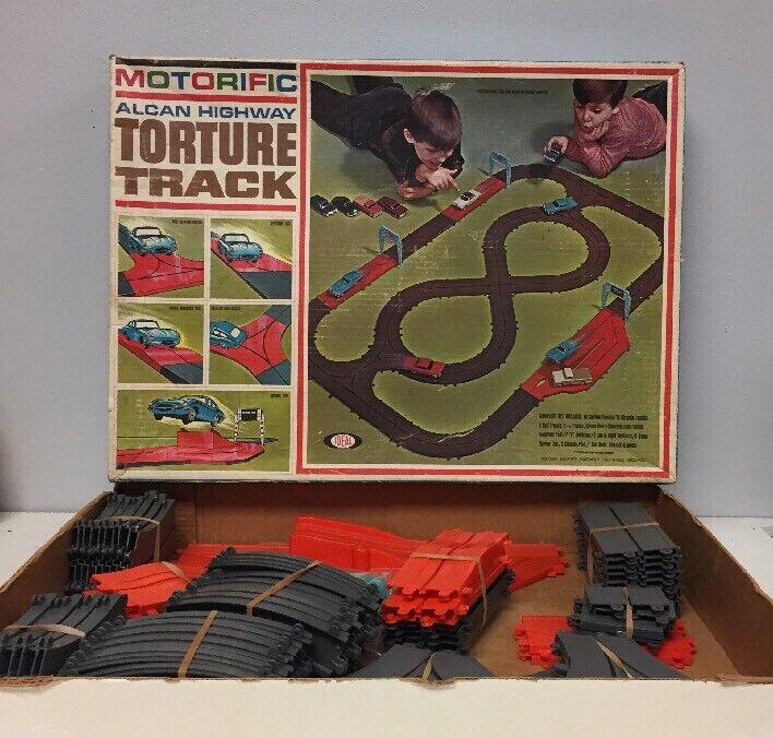 Vintage Ideal Motorific Allan Highway Torture Track With Car