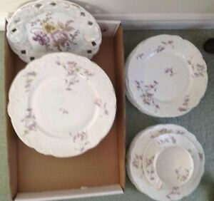 LIMOGES CHINA FROM FRANCE PLATES AND CUPS
