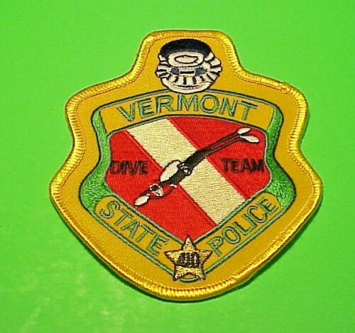 """VERMONT DIVE TEAM  4 1/2""""  VT  STATE POLICE  PATCH  FREE SHIPPING!!!"""