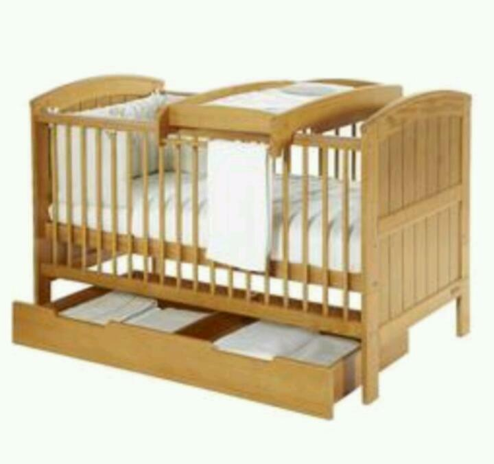 cot changing table mamas and papas cot bed changing table and bed storage drawer in norwich