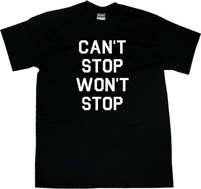 Kings of NY Cant Stop Wont Stop Hiphop Style Short Sleeve T-Shirt Black Grey Red