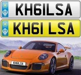 KHALSA cherished private personalised number plate car reg - KH61LSA
