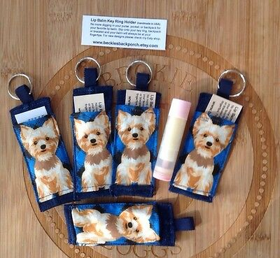 Yorkie Chapstick Holder Key Chain, Best Gift For Dog Lover, Yorkie