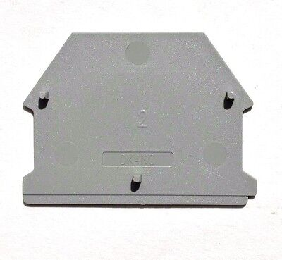 Din Rail Terminal Block End Covers 50 Qty Dinkle Dk4nc-s13110 Grey Gray Color