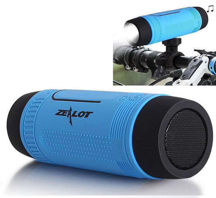 Outdoor Portable Bicycle Wireless Bluetooth Speaker with Fla