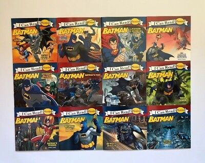 Batman Phonics Childrens Books Learning to Read Set Beginning Readers Lot 12