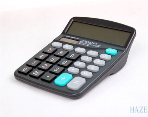 new Digital calculator desktop huge button solar battery driven
