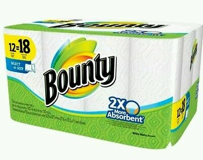 Bounty Select-A-Size White Paper Towels 12 Giant Rolls