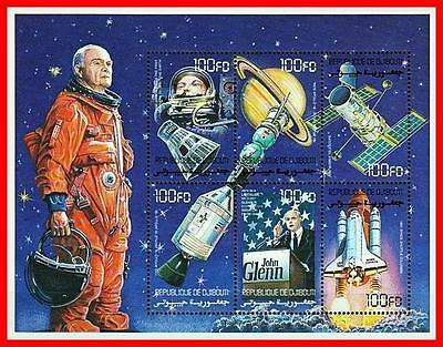 DJIBOUTI 2000 USA In SPACE ASTRONAUT JOHN GLENN M/S SC 825 MNH - $2.54