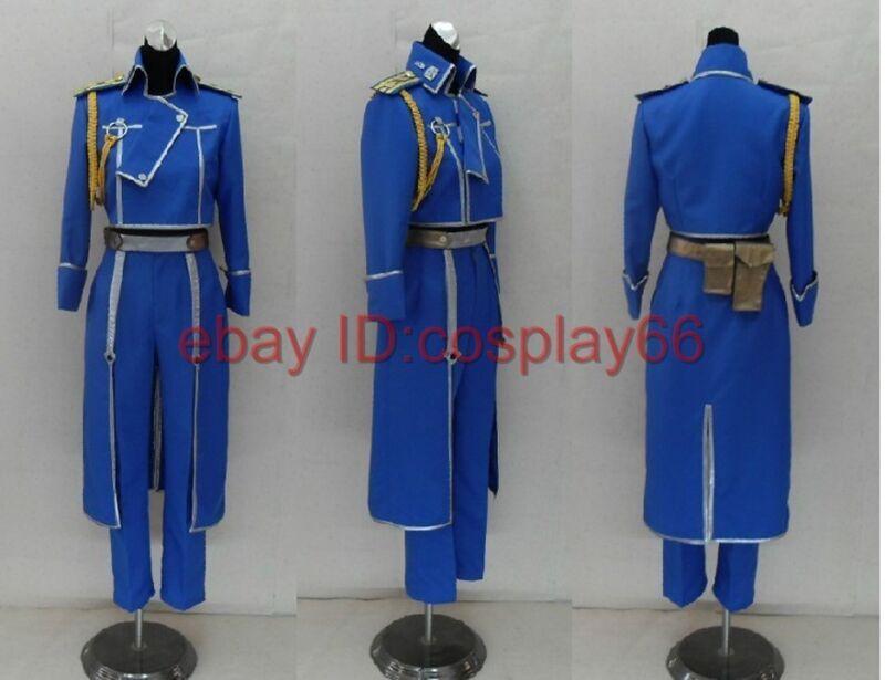 FullMetal Alchemist Roy Uniform Cosplay Costume Any Siz