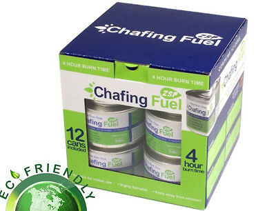 PACK OF 12 CHAFING DISH FUEL GEL CANS is Approx  3.5 HOUR BURNING TIME EACH Chafing Dish Fuel
