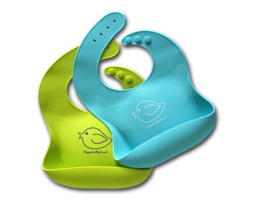 silicone baby toddler bibs set of 2