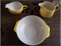 60's Yellow pottery