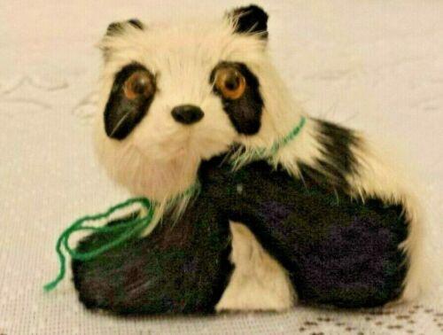 MOUNTAIN FLOWERS JIANGSU CHINA KF652 Miniature Panda Bear w/Real Fur-VERY RARE