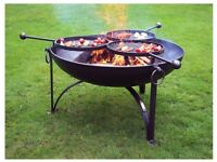 FIRE PIT WITH 3 SWING ARM BBQ RACK PLAIN JANE COLLECTION