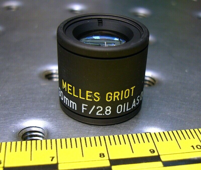 MELLES GRIOT 01LAS001 MOUNTED AIR SPACED TRIPLET LENS FL 30mm F 2.8 NEW IN BOX