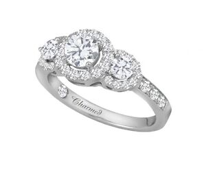 **Exclusive** 1.28 CTW Diamond Engagement Ring Set