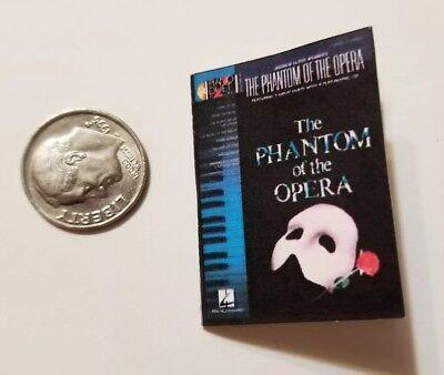 """Miniature   1/6 Barbie  Phantom of the opera Musical Piano Sheet Music Book 1.5"""""""