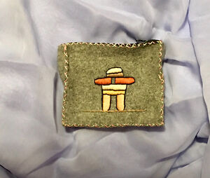 Inuit artisan hand embroidered change purse