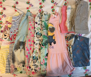 Toddler girl- 11 summer pieces, size 4-6