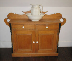 Beautiful Pine Washstand Cupboard