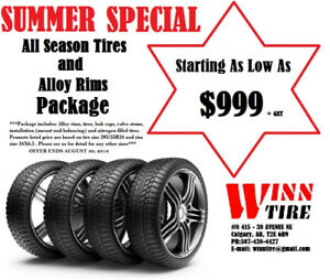 NEW! alloy rims and tires package